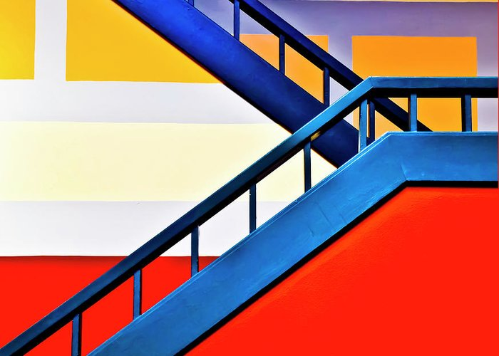 In A Row Greeting Card featuring the photograph Colorful Climb by By Wesbs