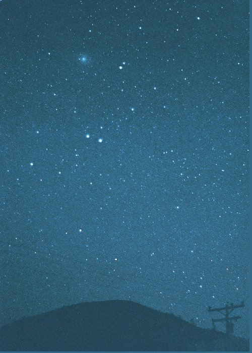 Comet Greeting Card featuring the photograph Comet Iras-araki-alcock And Star by Digital Vision.