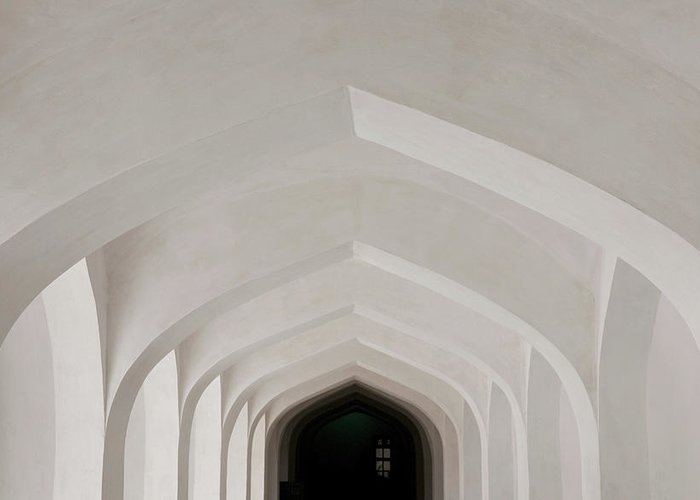 Tranquility Greeting Card featuring the photograph Corridor In Amer Fort, Rajasthan, India by Cultura Exclusive/karen Fox