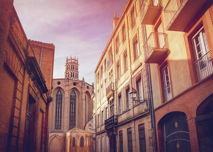 Toulouse Greeting Card featuring the photograph Couvent Des Jacobins Toulouse France by Carol Japp