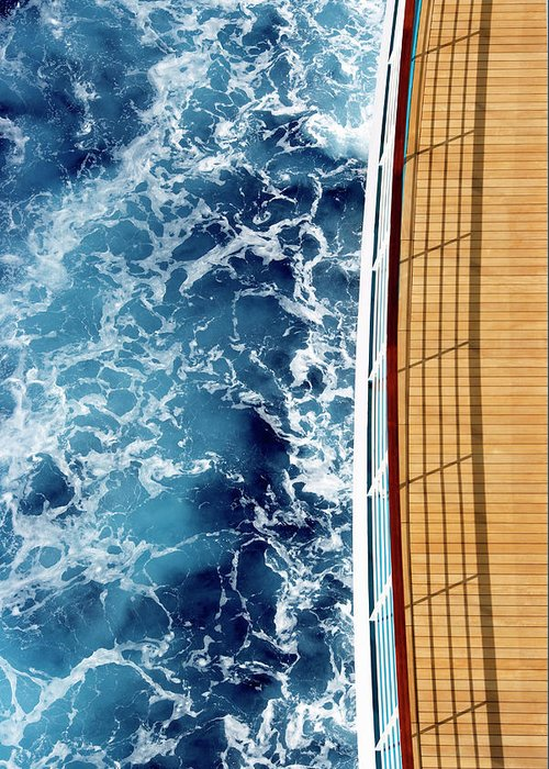 Shadow Greeting Card featuring the photograph Cruise Ship And Ocean by David Sacks