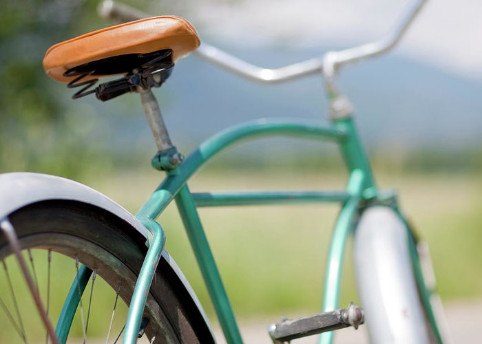 Tranquility Greeting Card featuring the photograph Cruiser Bicycle by Rocksunderwater