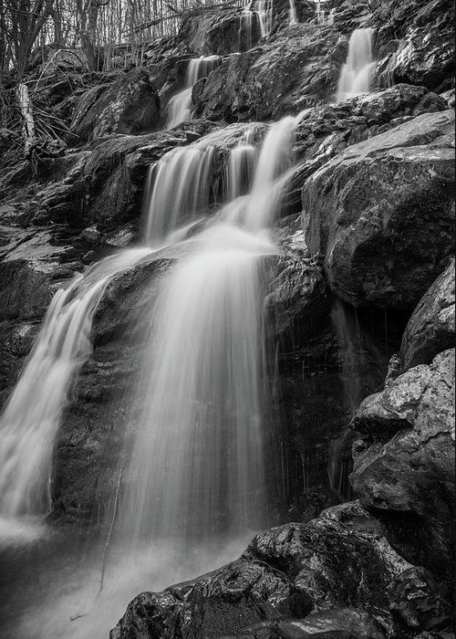 Water Greeting Card featuring the photograph Dark Hollow Falls - Shenandoah by Kyle Lee