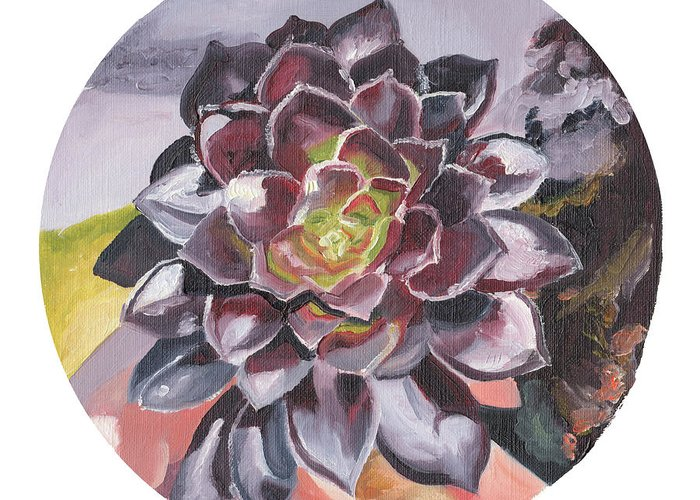 Succulent Greeting Card featuring the painting I Trust by Brittany Bert Selfe