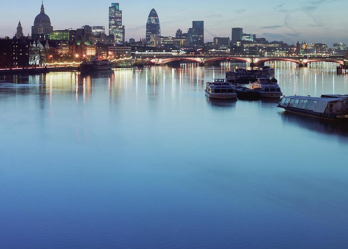 Blackfriars Bridge Greeting Card featuring the photograph Dawn On The Thames Xxl by Beholdingeye