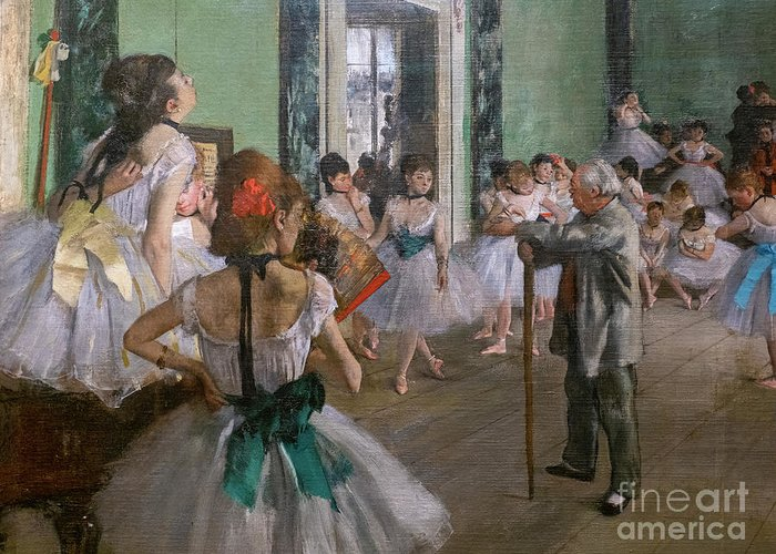 Dance Greeting Card featuring the painting Degas, The Dance Class Detail by Edgar Degas