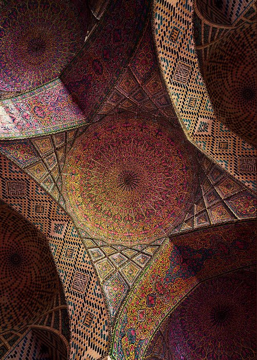 East Greeting Card featuring the photograph Detail Of The Ceiling Tilework by Len4foto