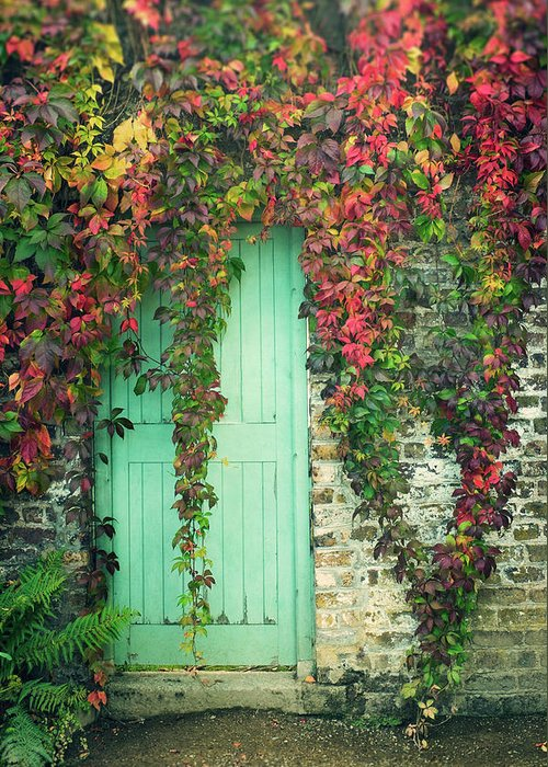 Tranquility Greeting Card featuring the photograph Door To The Secret Garden by Image By Catherine Macbride