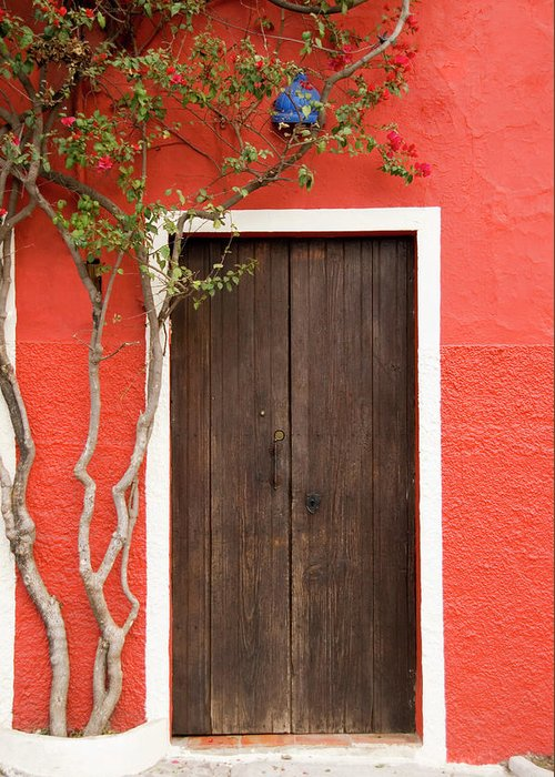 Built Structure Greeting Card featuring the photograph Doorway by Livingimages