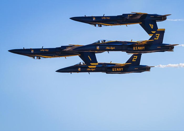 Air Show Greeting Card featuring the photograph Double Farvel Straight by ProPeak Photography