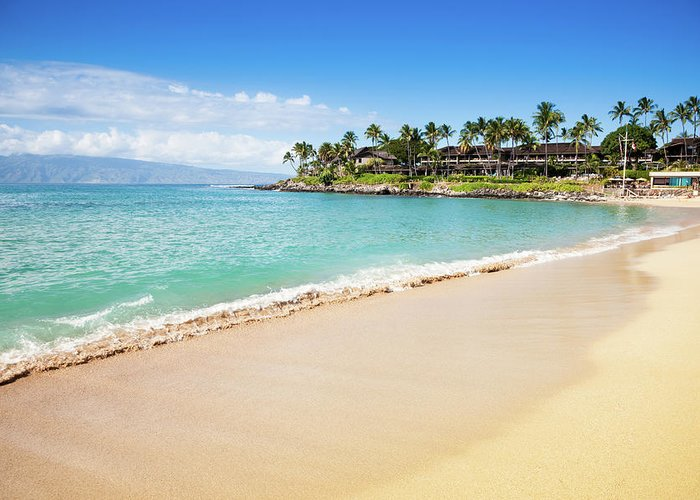 Lahaina Greeting Card featuring the photograph Dream Beach Napili Bay Maui Hawaii by Mlenny