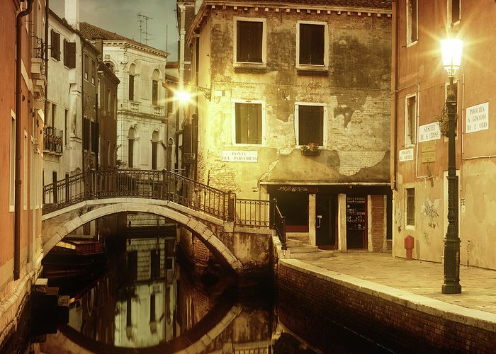 Empty Greeting Card featuring the photograph Dreaming Venice by Mammuth