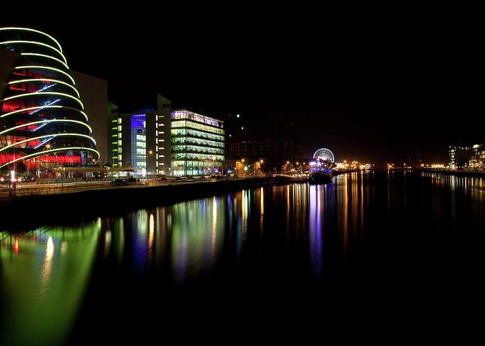 Dublin Greeting Card featuring the photograph Dublin City Along Quays by Image By Daniel King