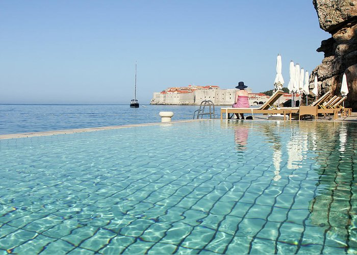 Adriatic Sea Greeting Card featuring the photograph Dubrovnik In Dalmatia, Croatia by Davidcallan