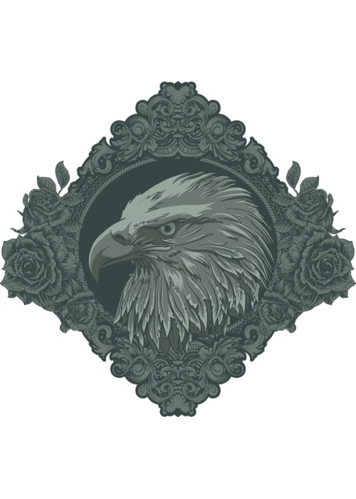 Goth Greeting Card featuring the digital art Eagle by Passion Loft