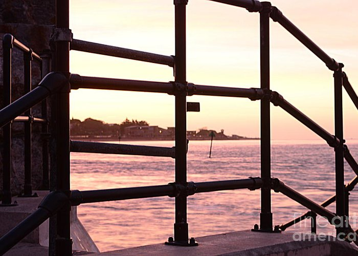 Railings Greeting Card featuring the photograph Early Morning Railings by Andy Thompson