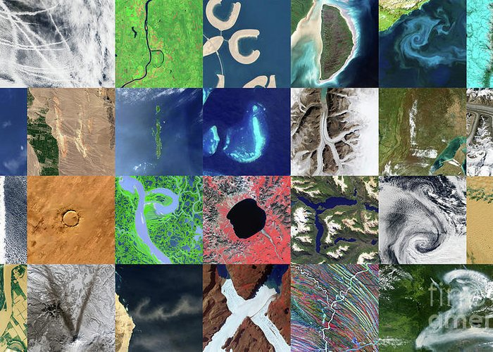 Earth Observation Greeting Cards