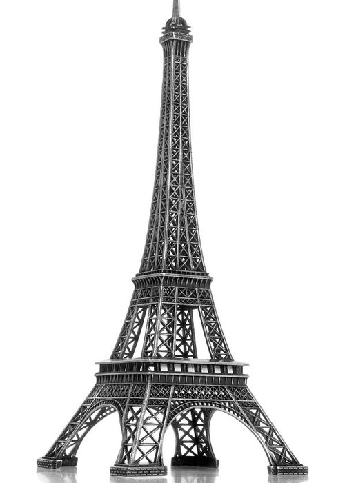 Architectural Model Greeting Card featuring the photograph Eiffel Tower by Jamesmcq24