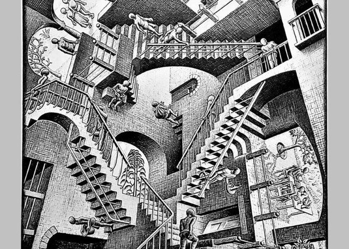 Maurits Cornelis Escher Greeting Card featuring the photograph Escher 131 by Rob Hans