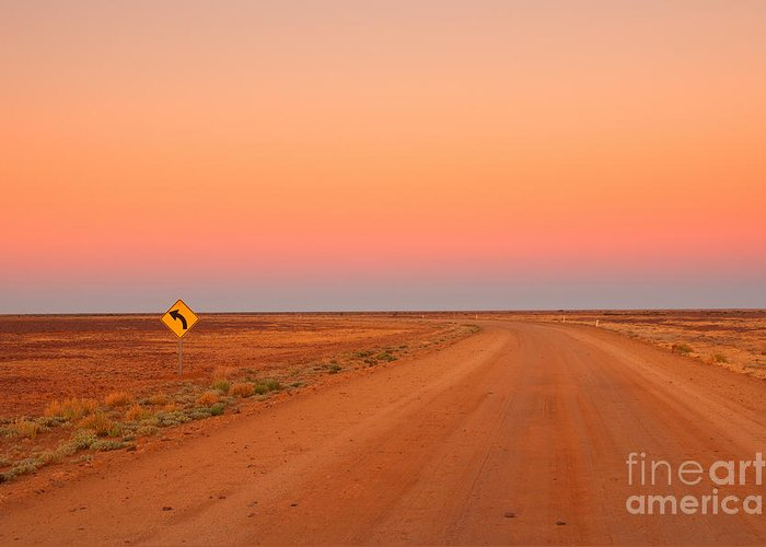 Country Greeting Card featuring the photograph Evening In The Australian Outback, Dirt by Australiancamera