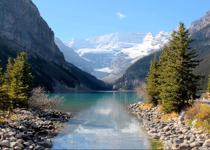 Tranquility Greeting Card featuring the photograph Fall At Lake Louise , Alberta, Canada by Cynthia Russell Photography