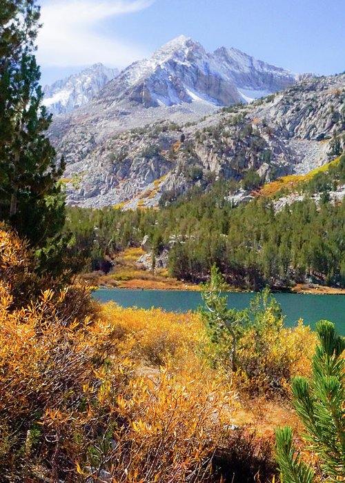 Eastern Greeting Card featuring the photograph Fall In The Eastern Sierra by Richard A Brown