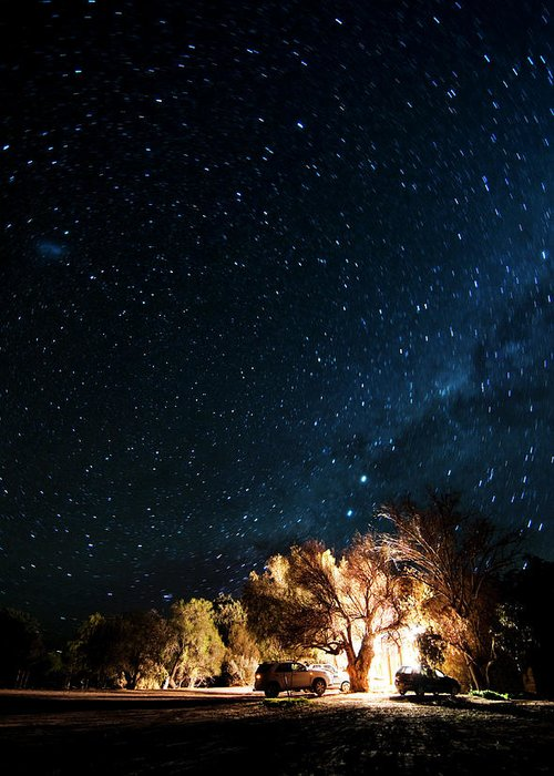 Northern Cape Province Greeting Card featuring the photograph Farm House And Milky Way by Subman