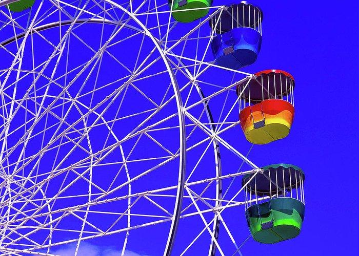 Outdoors Greeting Card featuring the photograph Ferris Wheel, Sydney, Australia by Hans-peter Merten