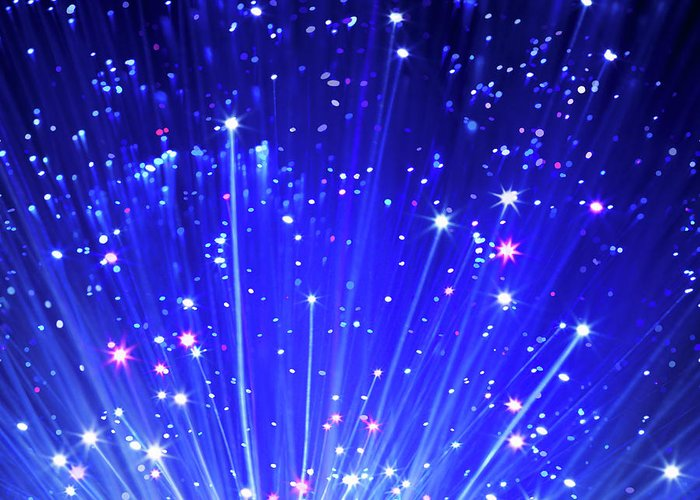 Technology Greeting Card featuring the photograph Fiber Optic Cables by Gandee Vasan