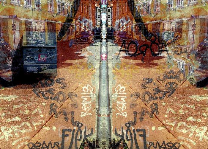 Fine Art Greeting Card featuring the digital art FLeK by Ole Klintebaek