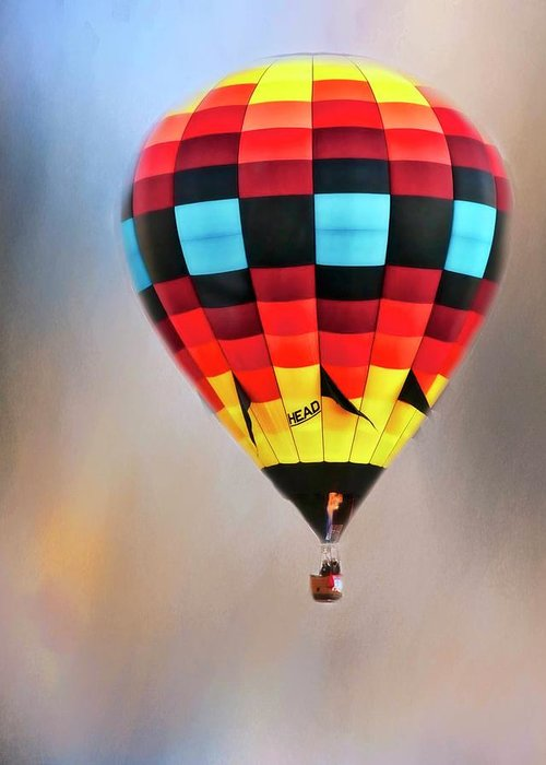 Fine Art Photography Greeting Card featuring the photograph Flight of Fantasy, Hot Air Balloon by Zayne Diamond Photographic