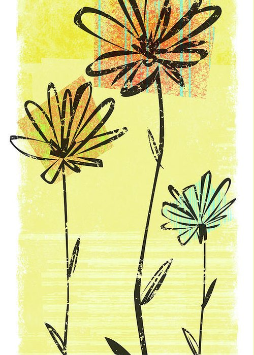 California Greeting Card featuring the digital art Flowers In Springtime by Harry Briggs