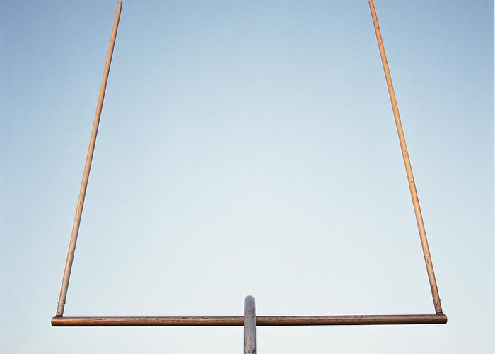 Goal Greeting Card featuring the photograph Football Goal Post by Mike Powell