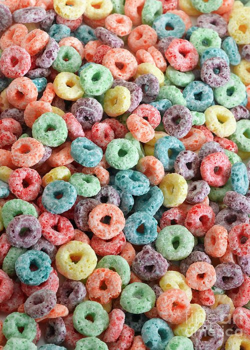 Breakfast Greeting Card featuring the photograph Fruit Cereal by Adshooter