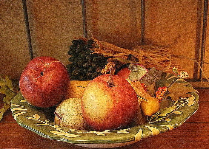 Apple Greeting Card featuring the photograph Fruit Of The Harvest - Still Life by Dora Sofia Caputo Photographic Design and Fine Art