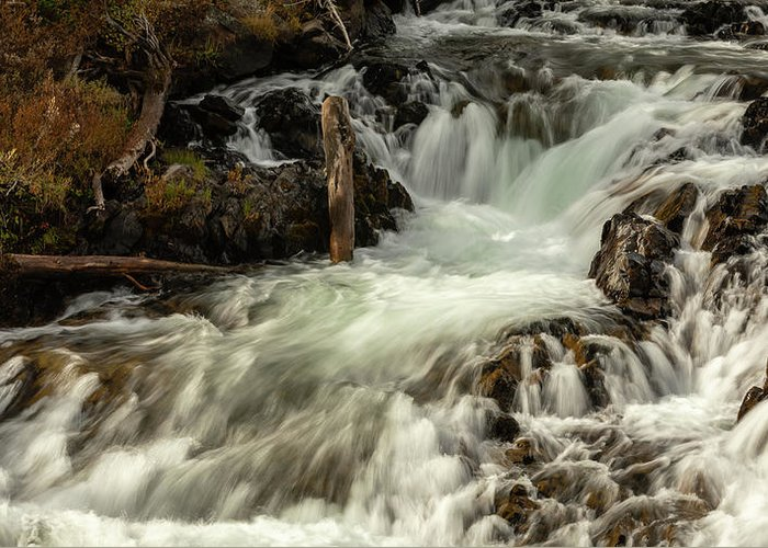 Yellowstone Greeting Card featuring the photograph The Chute On Gardner River - #3 by Stephen Stookey