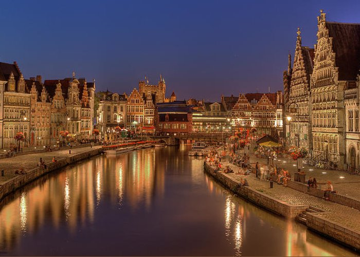 Tranquility Greeting Card featuring the photograph Gent - 03101119 by Klaus Kehrls