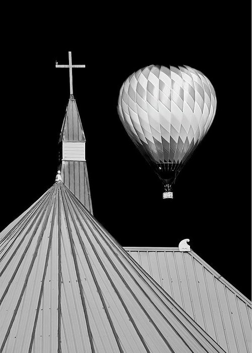 Geometric Greeting Card featuring the photograph Geometric Patterns at Balloon Fest by Zayne Diamond Photographic