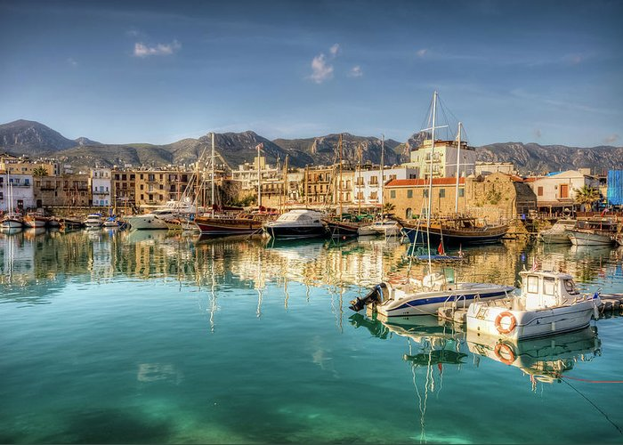 Tranquility Greeting Card featuring the photograph Girne Kyrenia , North Cyprus by Nejdetduzen