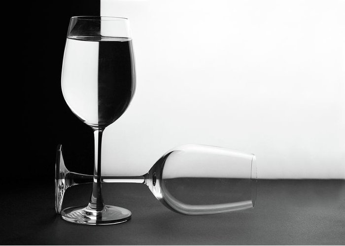 Alcohol Greeting Card featuring the photograph Glasses by Photo By Bhaskar Dutta