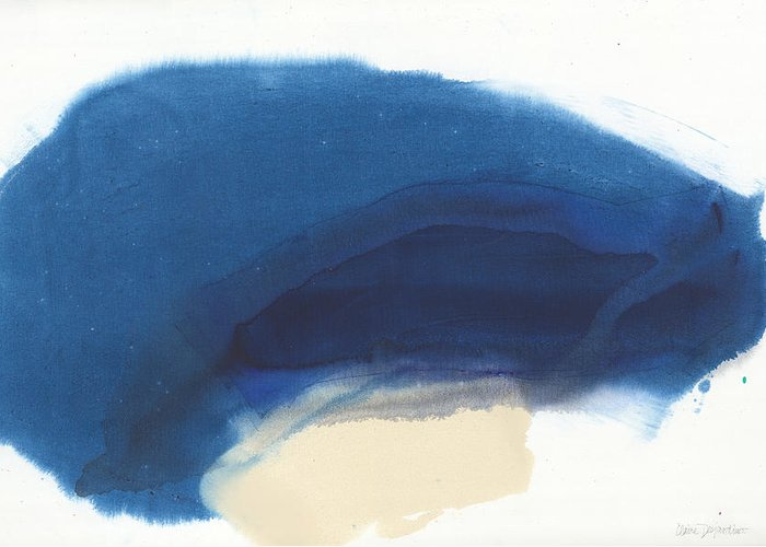 Abstract Greeting Card featuring the painting Go Easy by Claire Desjardins