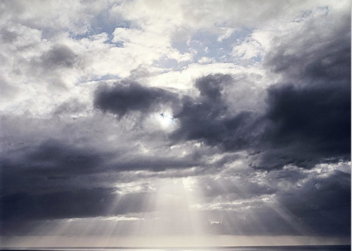 Scenics Greeting Card featuring the photograph Gods Above Us by Ioseph