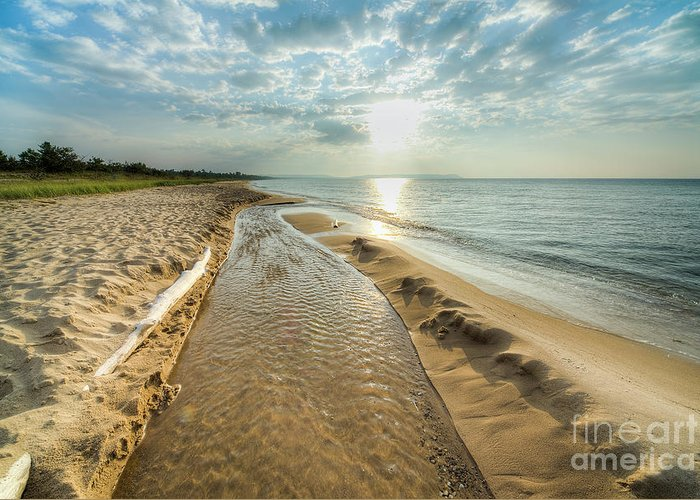 Good Harbor Greeting Card featuring the photograph Good Harbor Beach by Twenty Two North Photography