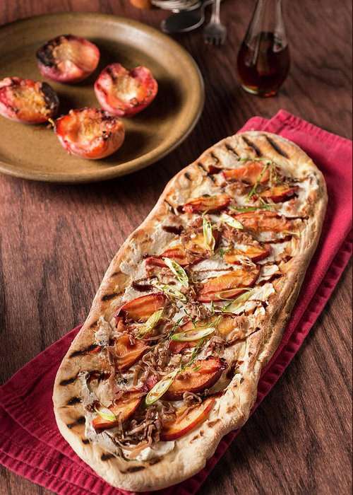 Cheese Greeting Card featuring the photograph Gourmet Pizza by Rudisill