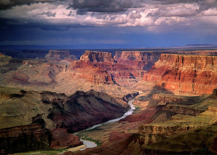 Scenics Greeting Card featuring the photograph Grand Canyon, Arizon, Usa by Michael Busselle