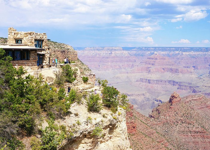 Grand Canyon National Park Greeting Card featuring the photograph Grand Canyon South Rim 04 by Richard A Brown