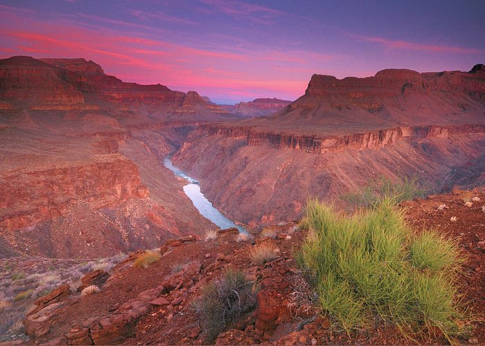 Scenics Greeting Card featuring the photograph Grand Canyon Sunrise by David Kiene