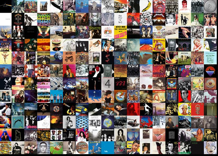 Album Covers Greeting Card featuring the digital art Greatest Album Covers of All Time by Zapista OU
