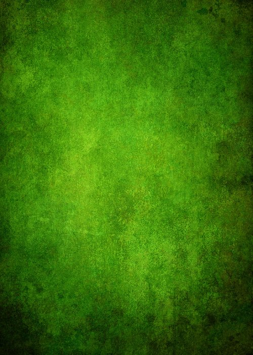 Stained Greeting Card featuring the photograph Green Grunge Background by Mammuth
