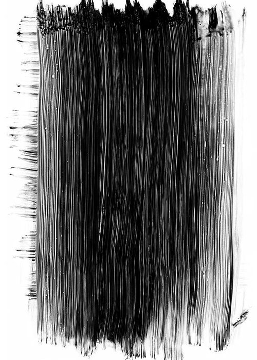 Art Greeting Card featuring the photograph Grunge Black Paint Brush Stroke by 77studio